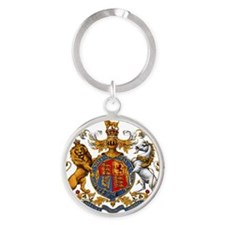 United Kingdom Coat of Arms Heraldr Round Keychain