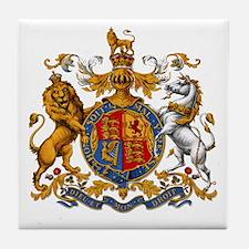 United Kingdom Coat of Arms Heraldry Tile Coaster