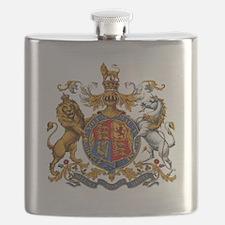 United Kingdom Coat of Arms Heraldry Flask