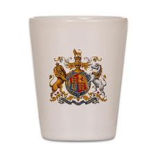 United Kingdom Coat of Arms Heraldry Shot Glass