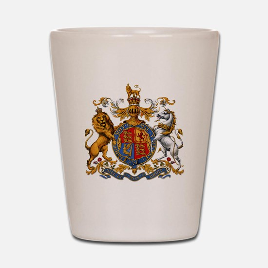 United Kingdom Coat of Arms Heraldry Shot Glass