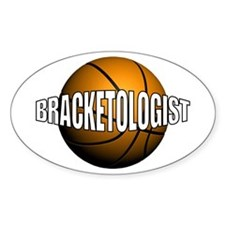 Bracketologist Oval Decal
