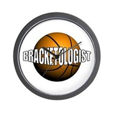 Bracketologist Wall Clock