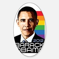 Obama Pride Rainbow Decal