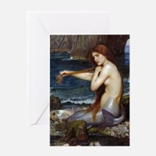 John William Waterhouse Mermaid Greeting Card