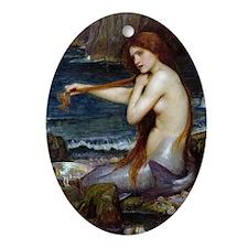 John William Waterhouse Mermaid Oval Ornament