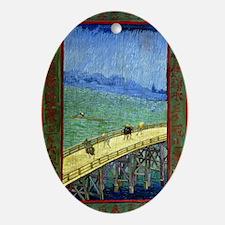 443 VG Hiroshige Oval Ornament