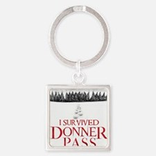 I survived Donner Pass Square Keychain