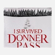 I survived Donner Pass Throw Blanket