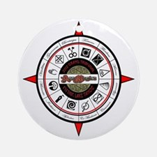 2012 Compass RED Round Ornament