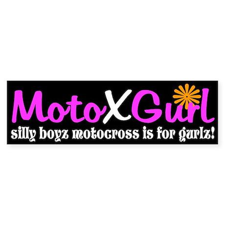 MotoXGurl silly boyz motocross Bumper Sticker