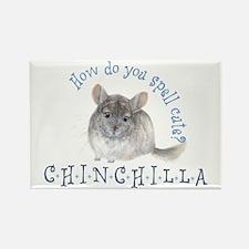 cute chinchilla Rectangle Magnet
