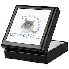 cute chinchilla Keepsake Box