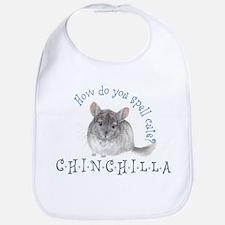 cute chinchilla Bib