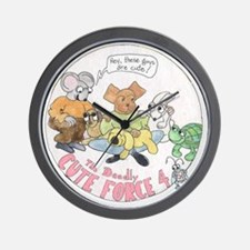 Deadly Cute Force Four Wall Clock