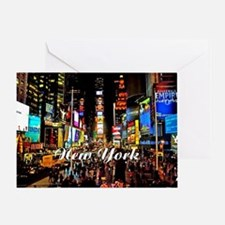 NY_5x3oval_sticker_TimesSquare Greeting Card