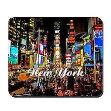 NY_5x3oval_sticker_TimesSquare Mousepad