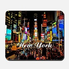 NY_5x3oval_sticker_TimesSquare Mousepad