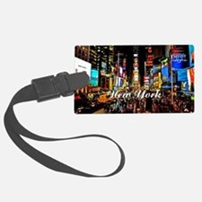 NY_5x3oval_sticker_TimesSquare Luggage Tag