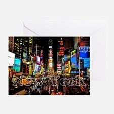 NY_5x3rect_sticker_TimesSquare Greeting Card