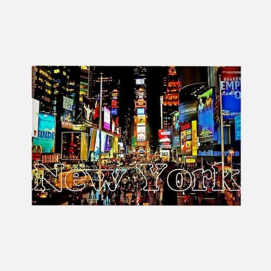 NY_5x3rect_sticker_TimesSquare Rectangle Magnet