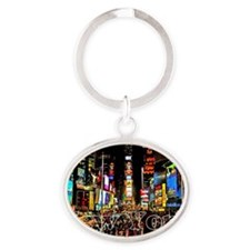 NY_5x3rect_sticker_TimesSquare Oval Keychain