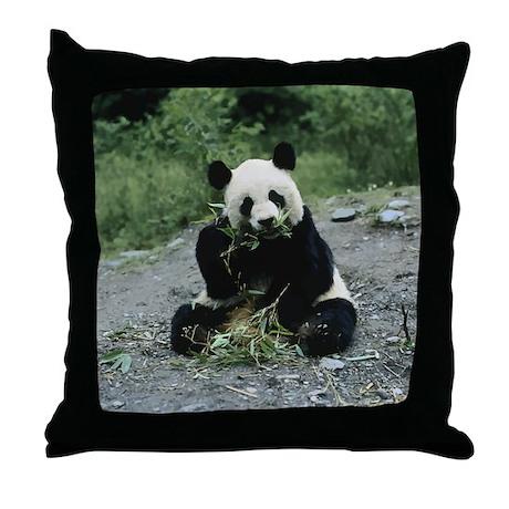 Cute Panda Pillow : Cute Panda Throw Pillow by Admin_CP1030624