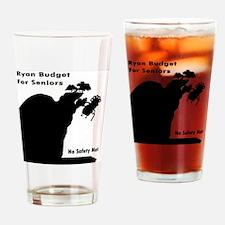 Ryan Budget for Seniors Drinking Glass
