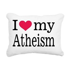 I heart my Atheism Rectangular Canvas Pillow
