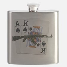 Ace King Spades with AK 47 Flask