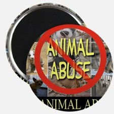 No Animal Abuse Magnet