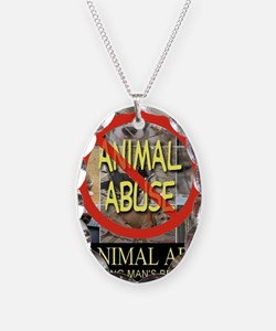 No Animal Abuse Necklace