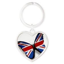 Butterfly Heart Keychain
