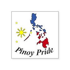 "Pinoy Pride Square Sticker 3"" x 3"""