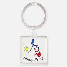 Pinoy Pride Square Keychain