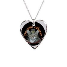 Do Unto Others - cats Necklace Heart Charm