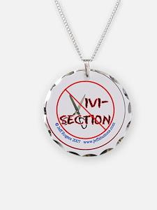 No Vivisection-white Necklace