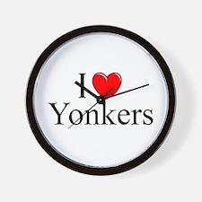 """""""I Love Yonkers"""" Wall Clock"""