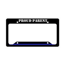 Proud Police Parent License Plate Holder