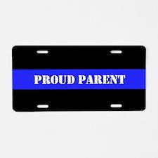 Proud Police Parent Aluminum License Plate