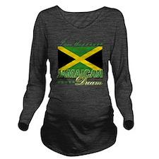 jamaican Long Sleeve Maternity T-Shirt