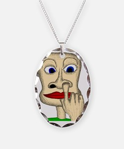 finger up the nose 10x10 Necklace