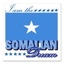 "SOMALIAN Square Car Magnet 3"" x 3"""