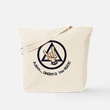 AA Dad Rocks Fathers Day Tote Bag