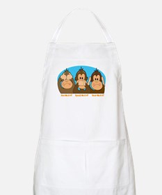 See,Speak,Hear No Evil BBQ Apron