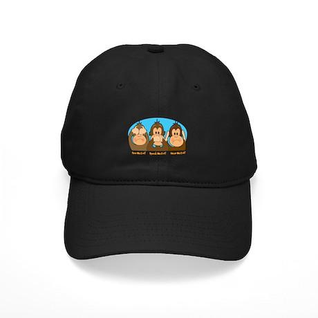 See,Speak,Hear No Evil Black Cap