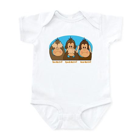 See,Speak,Hear No Evil Infant Bodysuit