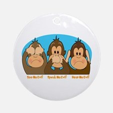 See,Speak,Hear No Evil Ornament (Round)