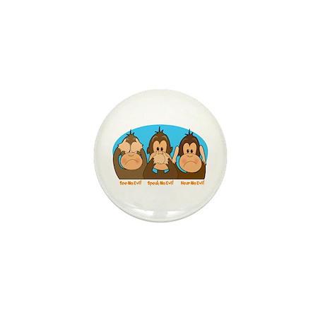 See,Speak,Hear No Evil Mini Button (100 pack)