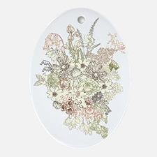 Wildflower Bouquet Oval Ornament